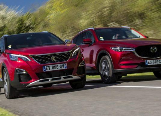 Mazda CX-5 verslaat Peugeot 3008